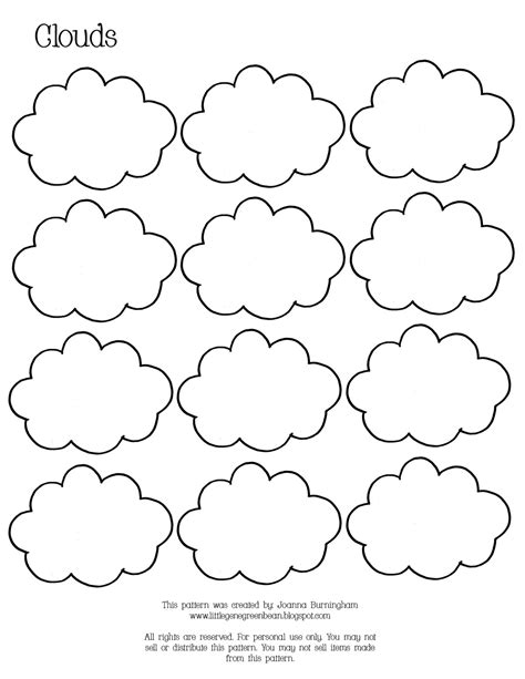 cloud printable template free go away coloring pages