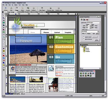 web layout program netobjects fusion essentials free website design software