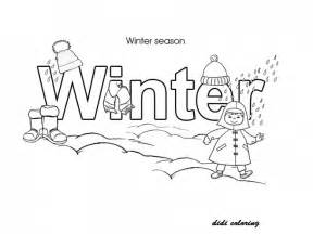 printable winter season enjoying snow fall and christmas