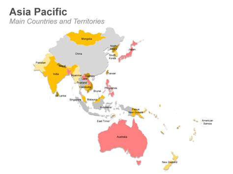 Free Asia Outline Map Vector by Asia Pacific Map With Countries And Territories