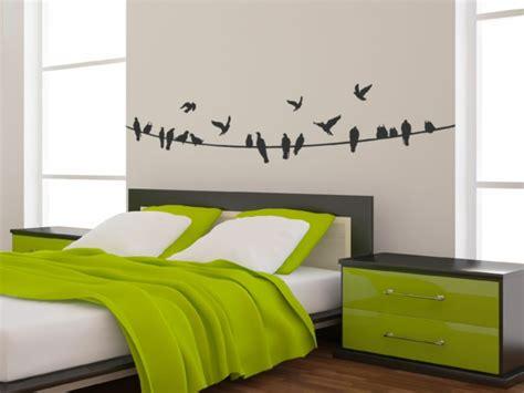 wand schlafzimmer gestalten wandtattoo selber gestalten herausforderung oder