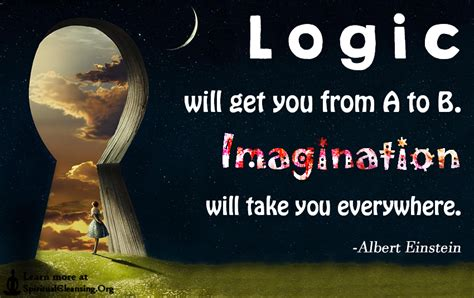 Quote About Quote Quot Logic Will Get You From A To B - logic will get you from a to b imagination will take you