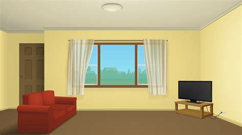 Simple Hall Interior Design Cartoon Living Room Background Coma Frique Studio