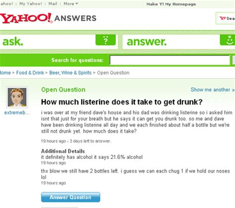 How Much Does It Take To Get An Mba by Yahoo Answers How Much Listerine Does It Take To Get