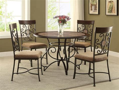 pc casual dining room table  side chairs fabric seat