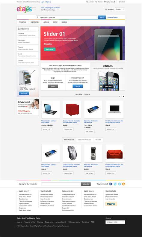 ebajes free responsive electronics magento ce theme