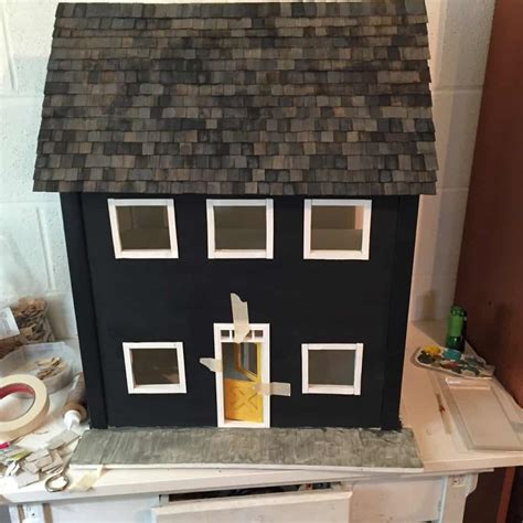 dollhouse roof shingles dollhouse update dollhouse roof and patio semigloss design