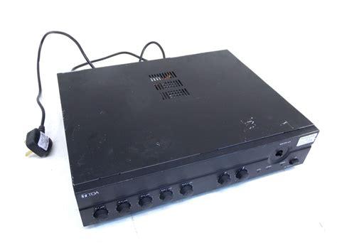 Mixer Power Lifier Toa A 2240 toa a 2240 240w electronics mixer lifier 100v balanced