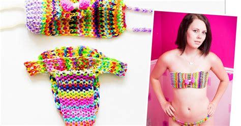 loom band dress video 16 first child to make a adult loom bands lynwen stonelake makes a loom band bikini