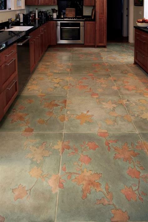 Stenciled floor, Floors and Polished cement floors on