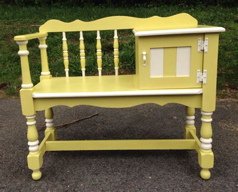 bench contact sold vintage english yellow telephone table bench