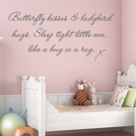 wall stickers for baby nursery butterfly kisses childrens baby nursery word wall