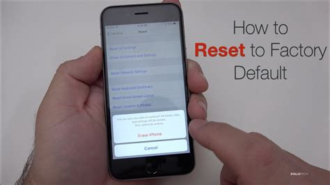 iphone factory reset how to reset iphone to factory default