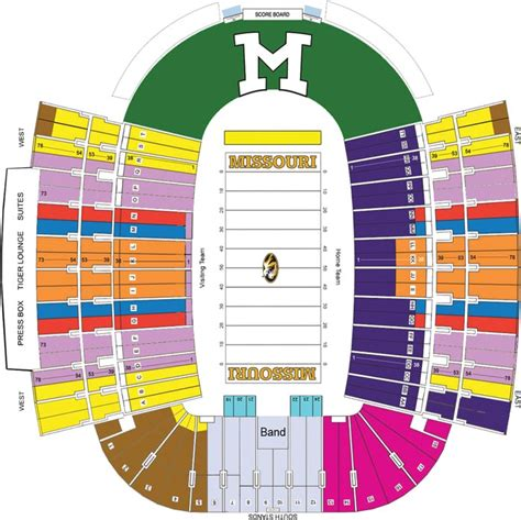 seating for missouri tigers faurot field seating chart