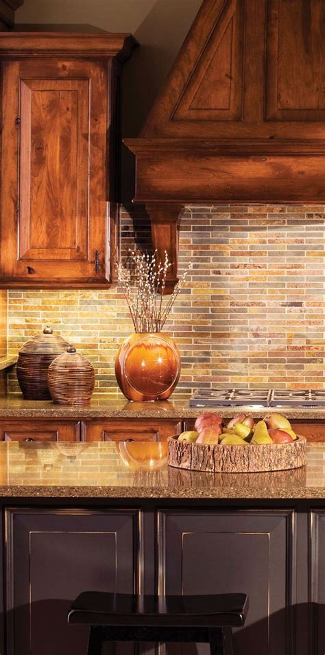 rustic backsplash for kitchen rustic kitchen design by dura supreme cabinetry gourmet kitchen design