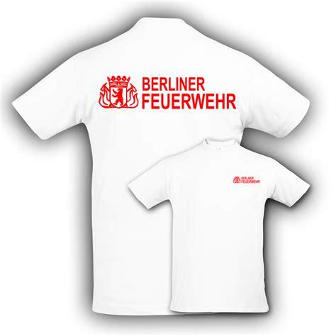 Berliner Feuerwehr Aufkleber t shirt bf wei 223 hauptstadtfeuerwehr