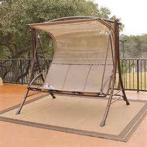 boca glider canopy swing and stand at hayneedle