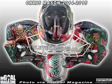 Eddie And The Jets Book Reports by New Iron Maiden Goalie Mask For Chris Blabbermouth Net
