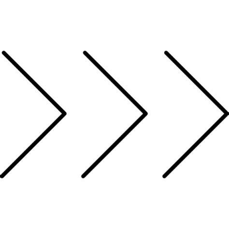 trois fl 232 ches pointant chevron droit t 233 l 233 charger icons