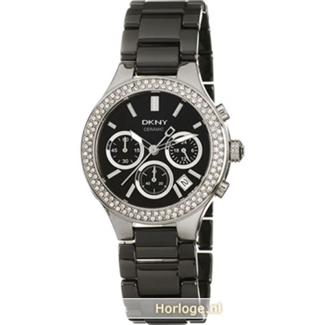 Black Ceramic Series Dkny dkny ny4983 ceramic horloge broadway chrono black