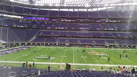 Section V Org by 100 Level Club U S Bank Stadium Football Seating