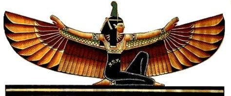 ancient egyptian goddess isis symbol ma at was the egyptian goddess of truth justice morality