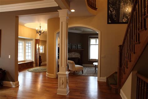 interior home columns square columns square column built by battaglia homes