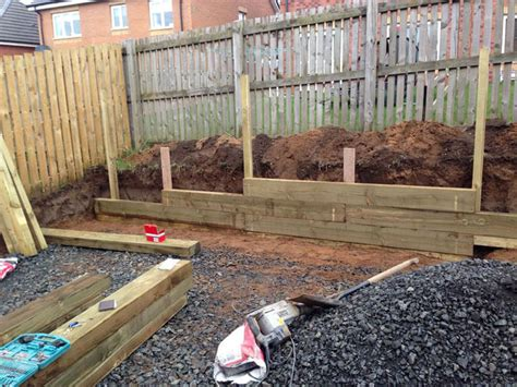 Timber Sleeper Retaining Walls by Retaining Walls Ace Paving Ltd