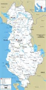 Albania Map In Europe by Road Map Of Albania Ezilon Maps
