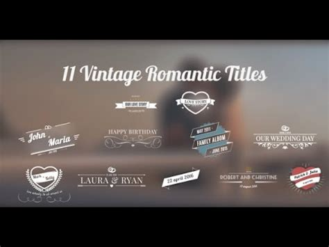 after effects cs5 templates 11 vintage wedding titles after effects cs5 template