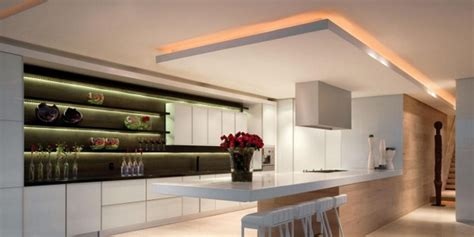 Suspended Ceiling Styles by Suspended Ceiling For Modern Kitchen With Superb Lighting