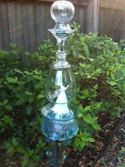 Garden Glass Totems Glass Garden Totem Gardens N Outsides