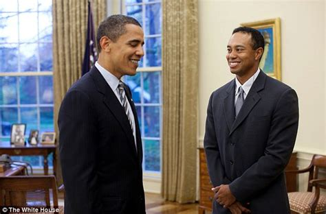 president weekend barack obama plays golf with tiger woods on president s