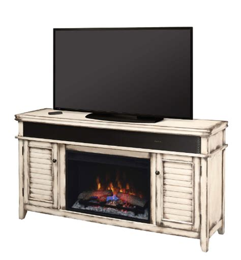 Electric Fireplace And Media Mantel by 59 5 Quot Simmons Country White Media Mantel Electric