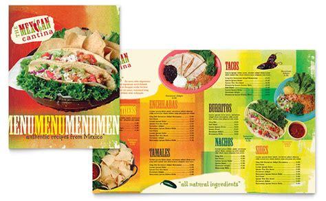 design mexican menu mexican restaurant menu template design