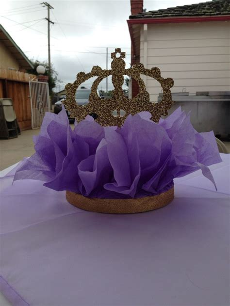 Purple & Gold Crown Centerpieces   My party crafts