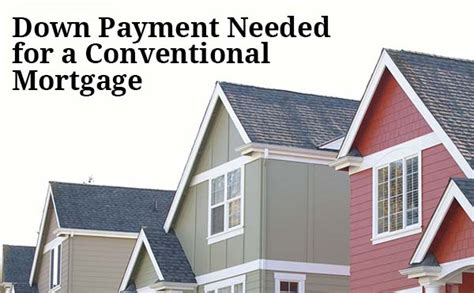 housing loan down payment conventional mortgage down payment how much do i need