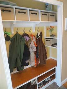 coat closet makeover mudroom entry closet ideas