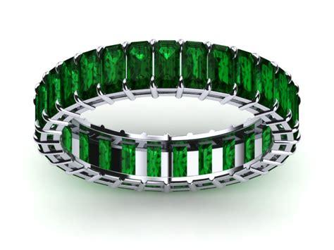 18k white gold emerald emerald eternity band