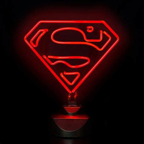 dc comics superman 30cm wide neon light iwoot