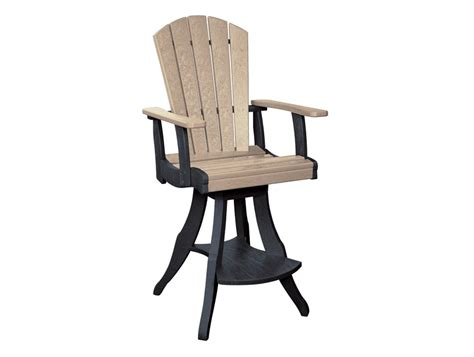 swivel pub chairs cottagespot recycled plastic swivel pub chair
