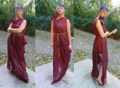 diy costume tutorial  sew draped goddess gown college
