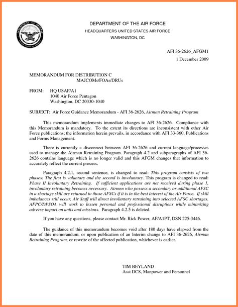 air memorandum template 10 department of the air letterhead template