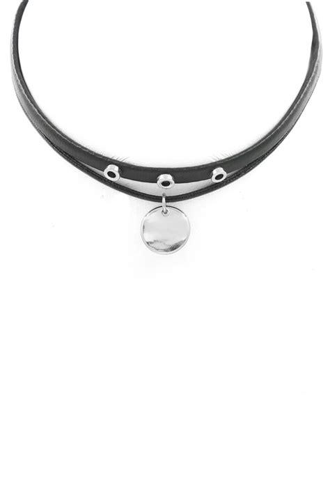 disc choker layered metal disc choker necklace choker necklaces