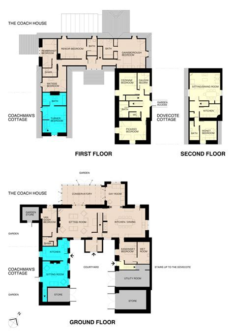 Coach House and properties layout and floorplans