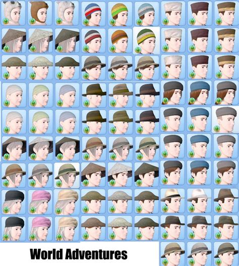 the sims 3 hairstyles and their expansion pack mod the sims cas hat hiders for all expansions and stuff