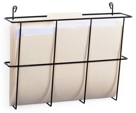 Folder Wall Rack by Wall Hanging Folder Racks Fits Letter Documents