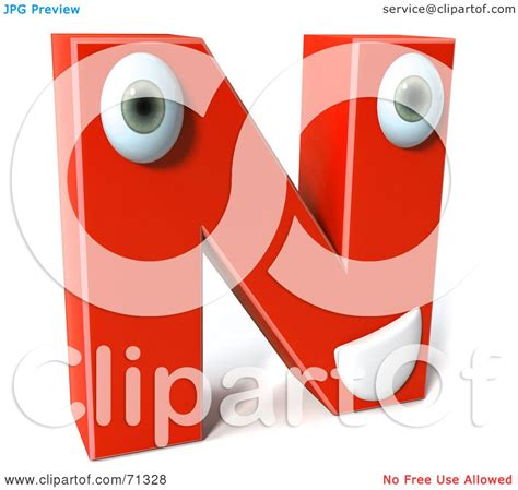 Special Character Letter N royalty free rf clipart illustration of a 3d
