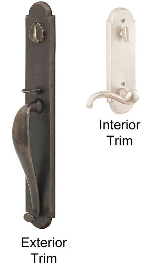 exterior lever door handles emtek greeley sandcast bronze entry door handle shop