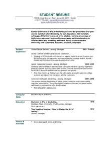 Resume Template For A Student by Resume Templates Easyjob